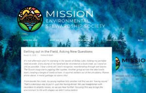 An image of the article preview on the Mission Environmental Stewardship blog, with background iamge of forest slope in blue tones